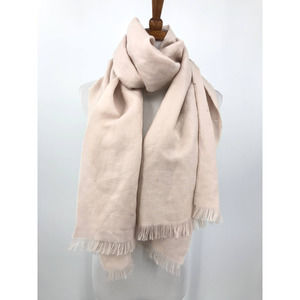 Gucci Scarf Wool Linen Pink 45x180cm Authentic